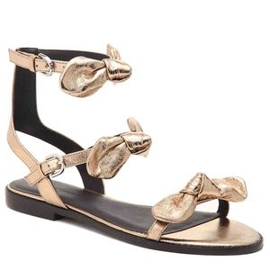 New Rebecca Minkoff Shaya Triple Bow Sandals